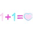 Love formula vector image vector image