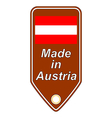 Made in Austria icon vector image vector image