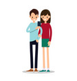 man and woman do selfie vector image
