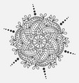 mandala round ornament traditional indian vector image vector image