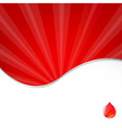 Medical Background With Blood Drop vector image vector image