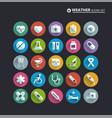 medical icon set 25 cartoon colorful hospital vector image