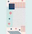 memphis style story template geometric vector image