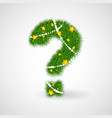 new year tree question mark vector image vector image