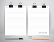 Paper with pen and pencil Business working vector image vector image