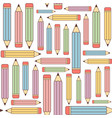 pencils seamless background vector image vector image