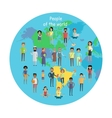 People of The World Concept in Flat Design vector image vector image