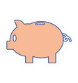 piggy with save money cash currency vector image vector image