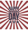 Presidents Day Text on striped grunge Background vector image vector image