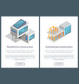 residential construction pages vector image vector image