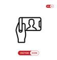 selfie icon vector image vector image