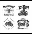 set logo motorcycle vintage vector image
