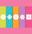 set of colorful seamless creative patterns bright vector image vector image