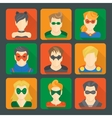 Set of superheroes stickers vector image vector image