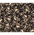 Skulls and bones Seamless background vector image vector image