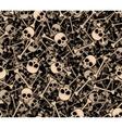 Skulls and bones Seamless background vector image