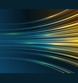 speed motion blue light curves abstract tech vector image