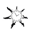 Time passing man from birth till death vector image