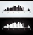toledo usa skyline and landmarks silhouette vector image vector image