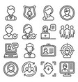user profile and avatar icons set vector image