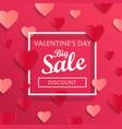 valentines day big sale background vector image vector image