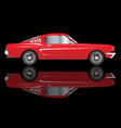very fast red car vector image vector image