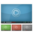 video player for web and tablet pc vector image