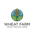 wheat logo design inspiration vector image