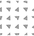 Seamless hand drawn triangle pattern vector image