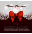 Merry christmas background invitation xmas card vector image
