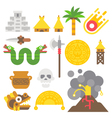 Flat design mayan items set vector image