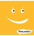 Think positively vector image