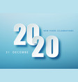 2020 happy new year creative design background vector image