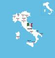 abstract color map italy country vector image vector image