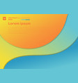 abstract colorful template curve with shadow on vector image vector image