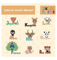 animal abc from letter j - r vector image vector image