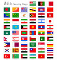 asian national flags set vector image vector image