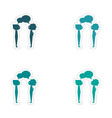 assembly realistic sticker design on paper boys vector image vector image