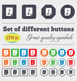 Audio MP3 file icon sign Big set of colorful vector image vector image