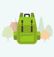 bag pack icon flat design vector image vector image