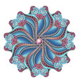 beautiful deco colored contour mandala vector image vector image
