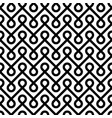 black and white linear weaved seamless pattern vector image vector image