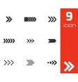 black arrows icons set vector image vector image
