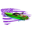 boat speed motorboat yacht traveling vector image