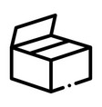 cardboard transportation box packaging icon vector image vector image