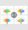 collection fan charts vector image