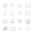 Contact Icons Line vector image