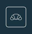 croissant icon line symbol premium quality vector image vector image
