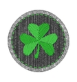 Denim patch with shamrock vector image vector image