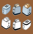 doodle style toasters vector image